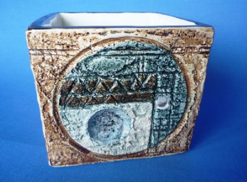 Troika  Pottery Cube Decorated by Alison Brigden